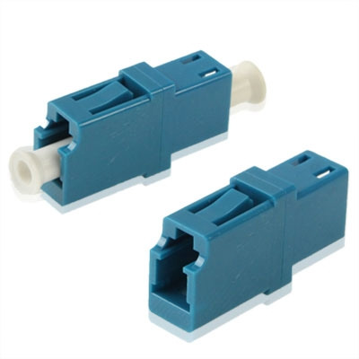 LC-LC Single-Mode Fiber Simplex flens / Connector / Adapter / Lotus Root Device(blauw)