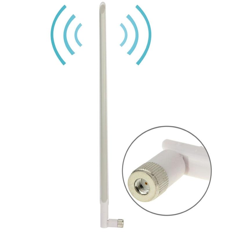 2.4GHz draadloos 15dBi RP-SMA mannetje Netwerk Antenne wit