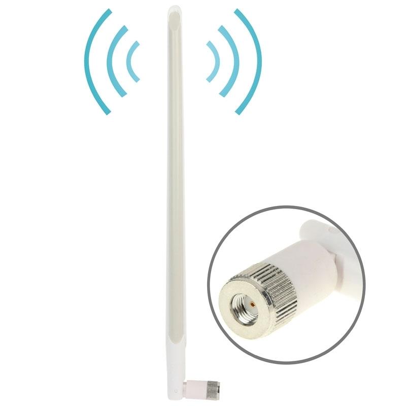 Hoge kwaliteit 10dBi WiFi RP-SMA mannetje Netwerk Antenna wit