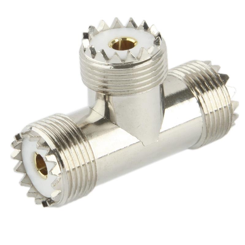 UHF vrouwtje naar 2 x UHF vrouwtje Adapter