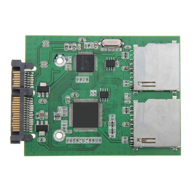 Dubbele SD kaart naar 22 pin SATA Adapter Converter kaart