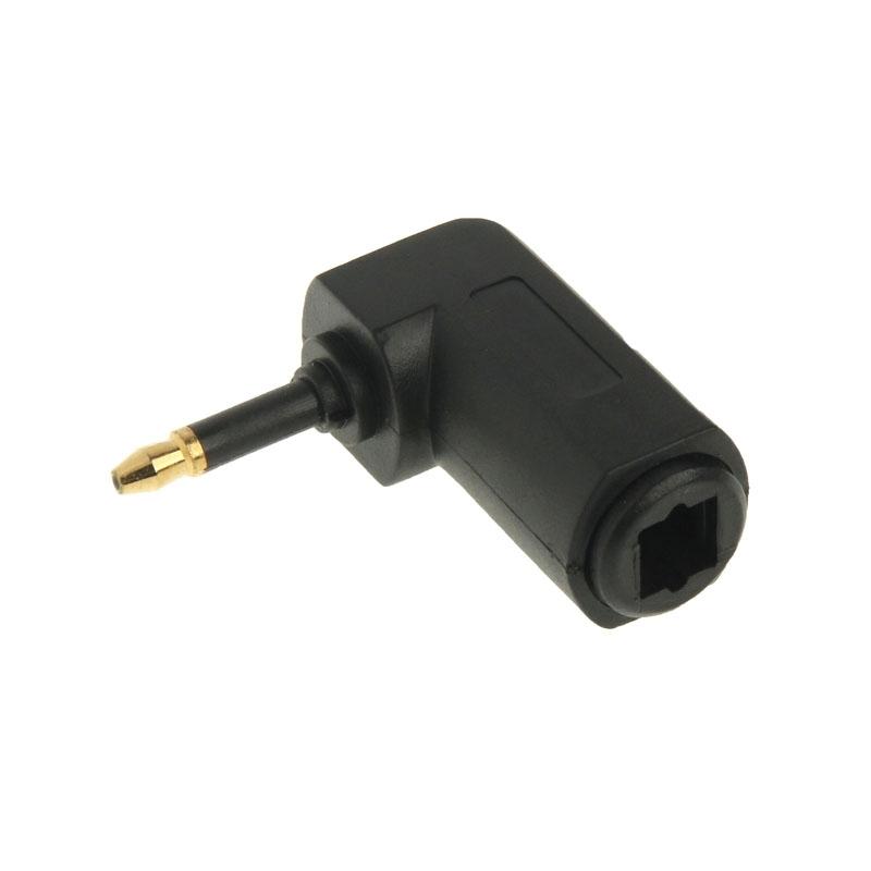 Hoge kwaliteit 90 graden vergulde Vierkant naar Rond Audio Optische Fiber Adapter