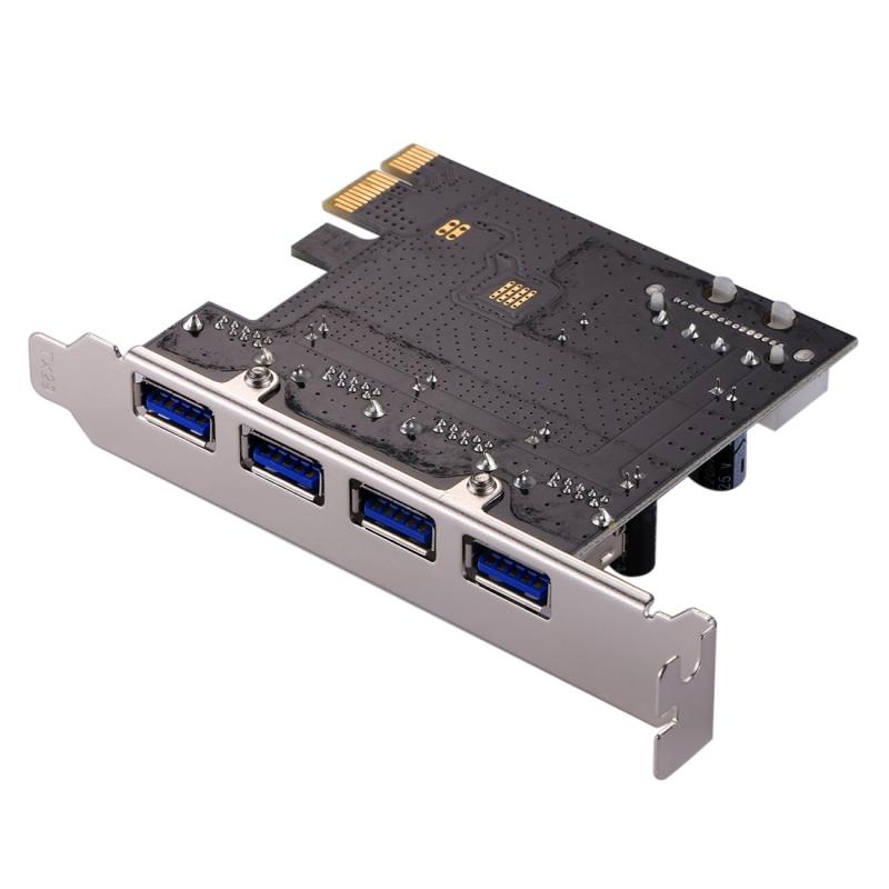 USB 3.0 4 poorten PCI-E Express-controllerkaart 5Gbps
