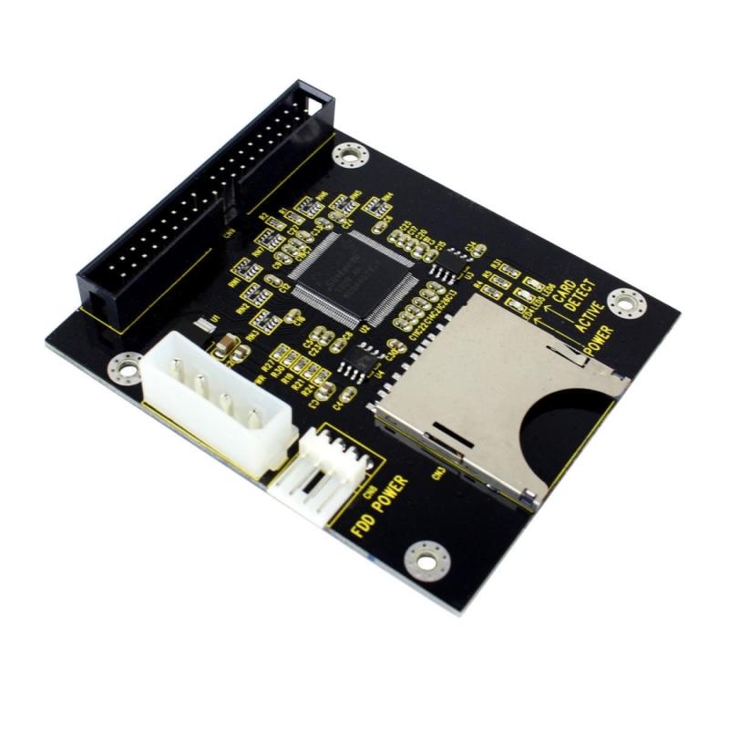 SD / SDHC / MMC naar 3.5 inch 40 pin mannetje IDE Adapter kaart (zwart)