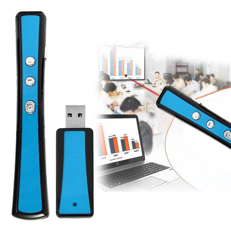 VIBOTON PP900 2 4 GHz multimediapresentatie externe PowerPoint Clicker Handheld Controller Flip-Pen met USB-aansluiting  bepalen afstand: 25m(Blue)