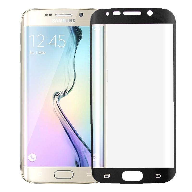 Uiterst dunne gebogen TPU Screen Protector voor Galaxy S6 Edge / G925(Black)