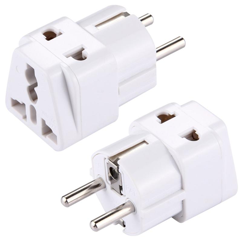 Steek Adapter  Travel Power Adaptor met Europa Socket Plug(White)