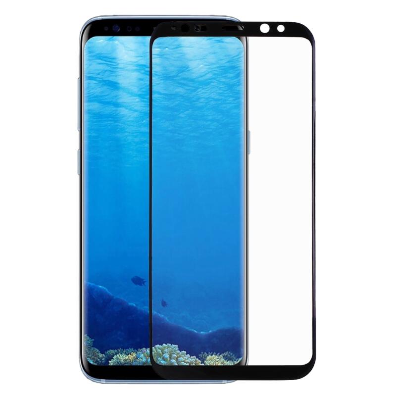 PET gebogen warmte Screen Protector voor Galaxy S8 buigen (zwart)