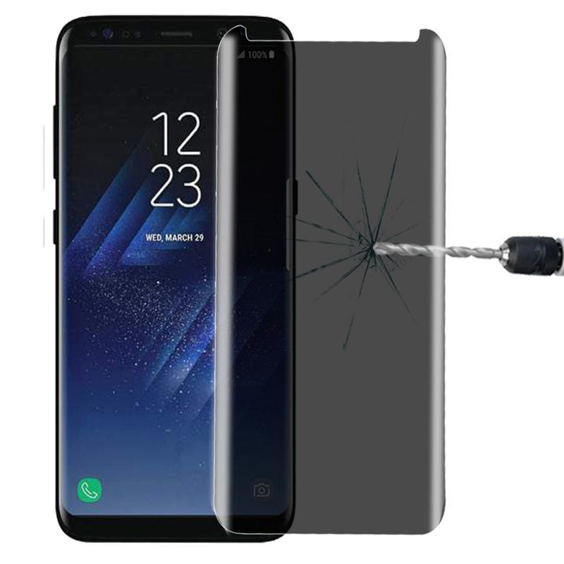 Voor Galaxy S8 / G950 0.3mm 9H oppervlaktehardheid 3D gebogen Privacy niet-volledig Antireflectiescherm gehard glas Screen Protector