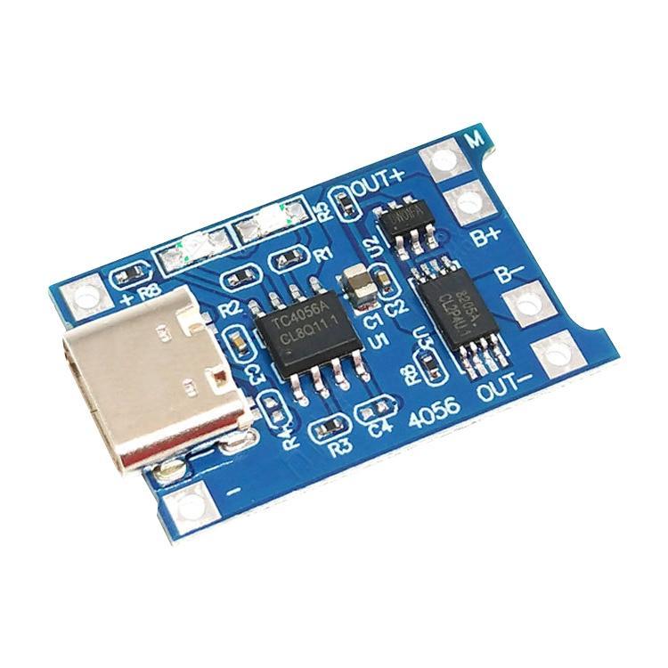 TP4056 USB-C/type-C combo bescherming opladen 1A Lithium batterij laadbord module